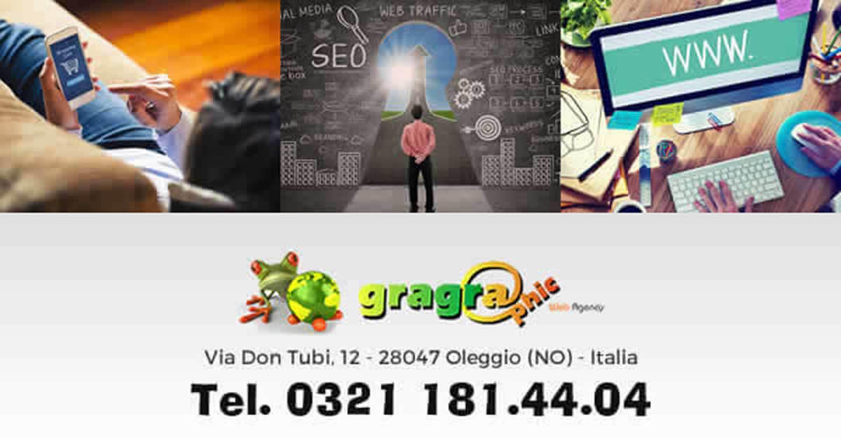 Sei di Angera, cerchi una agenzia web per la progettazione e-commerce contatta Gragraphic